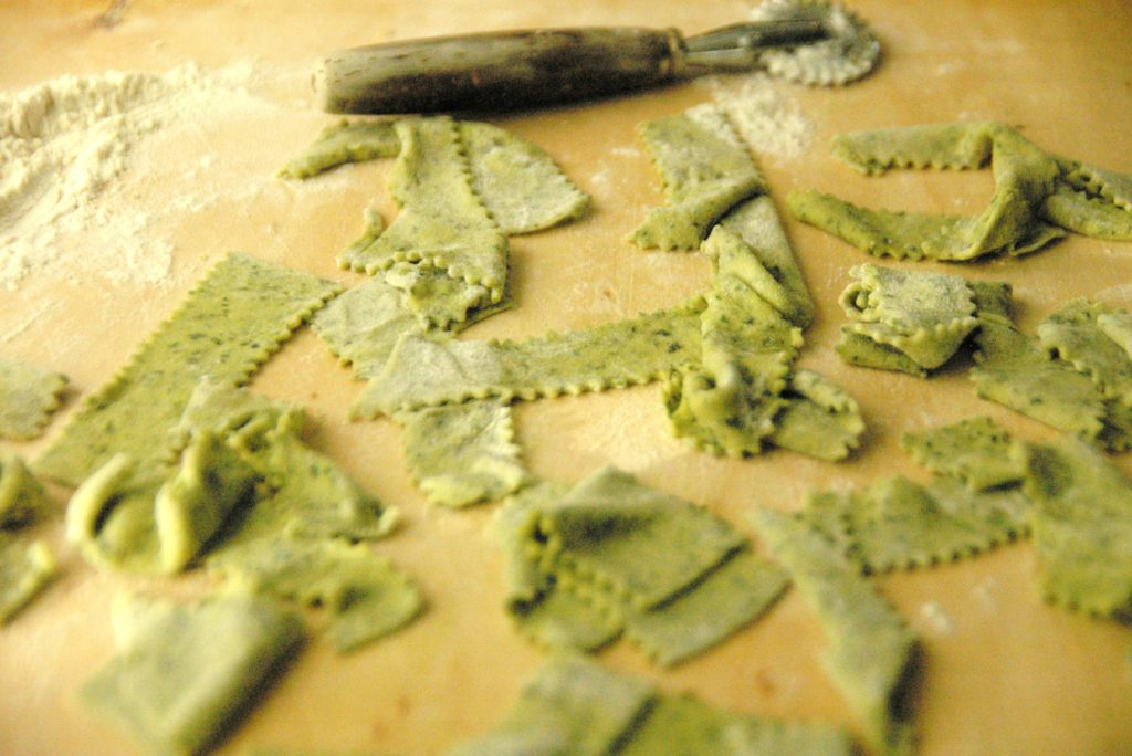green home made pasta