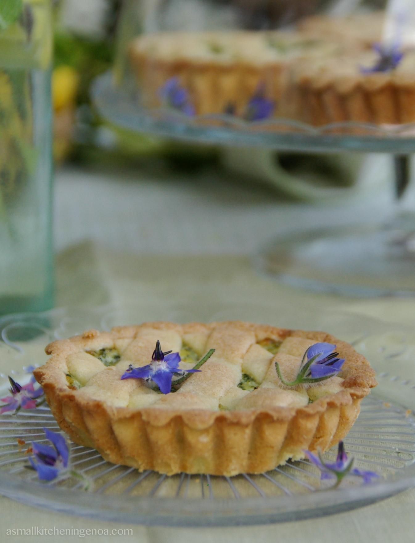wild herbs pastry_ borages tartlets_ asmallkitcheningenoa