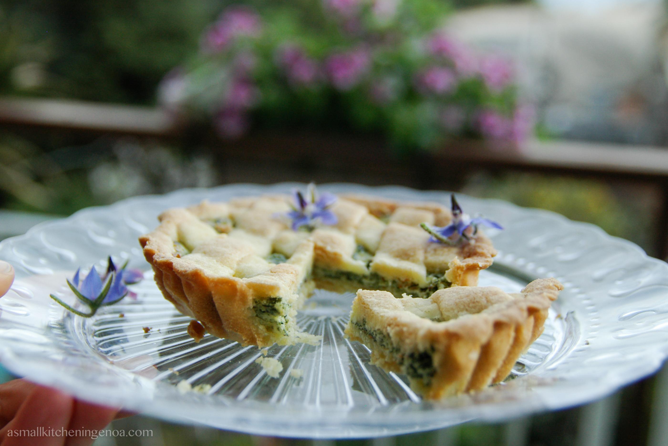 borages tartlets: shortcrust pastry, ricotta cheese, borages, orange peel and cinnamon