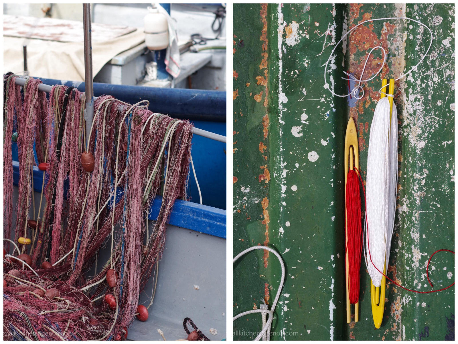 Genoa fish market: a stroll among fishermen and their nets