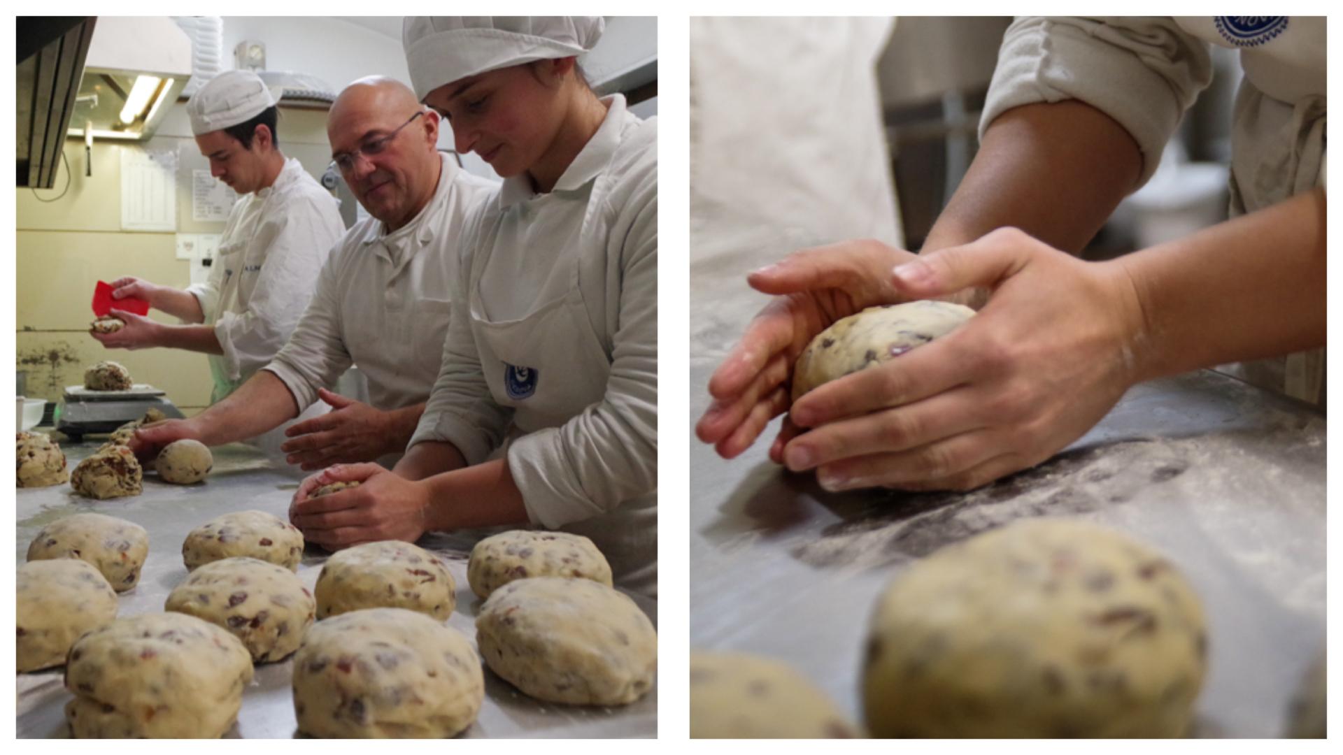 Profumo family shaping Genoa cake