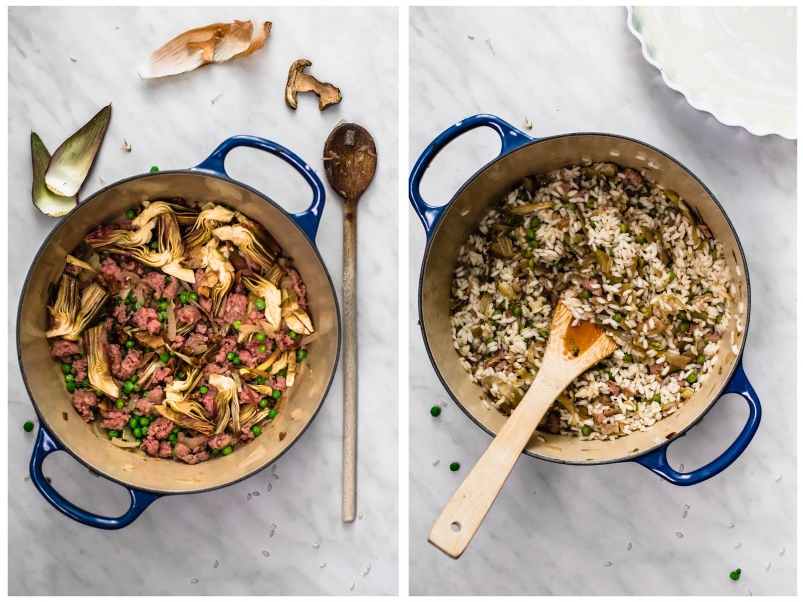 Genoese roasted rice: preparation