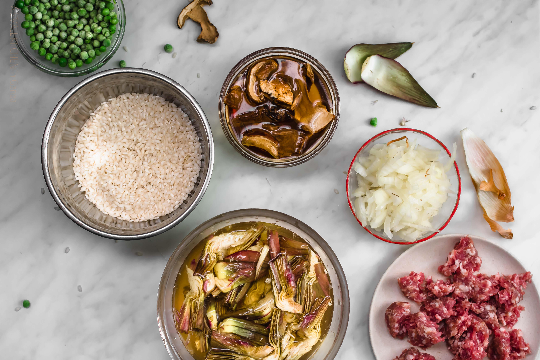 Genoese roasted rice: ingredients
