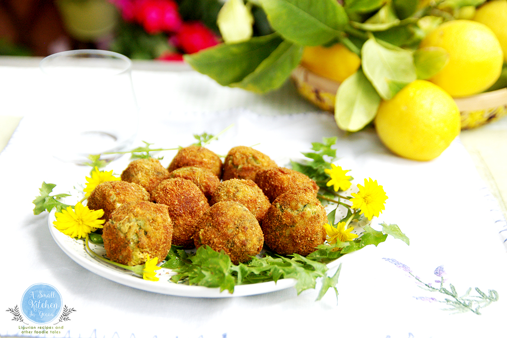 dandelion and wild fennel balls