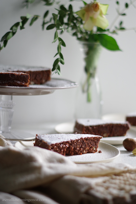chestnuts cake gluten free and low fat