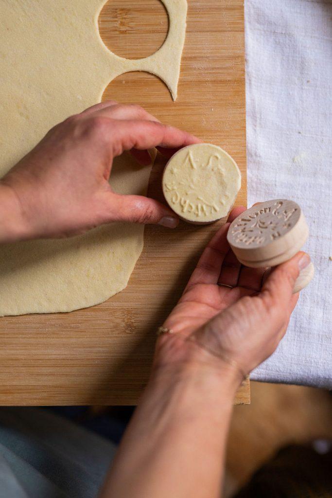 fresh pasta _ italian Riviera corzetti stamp
