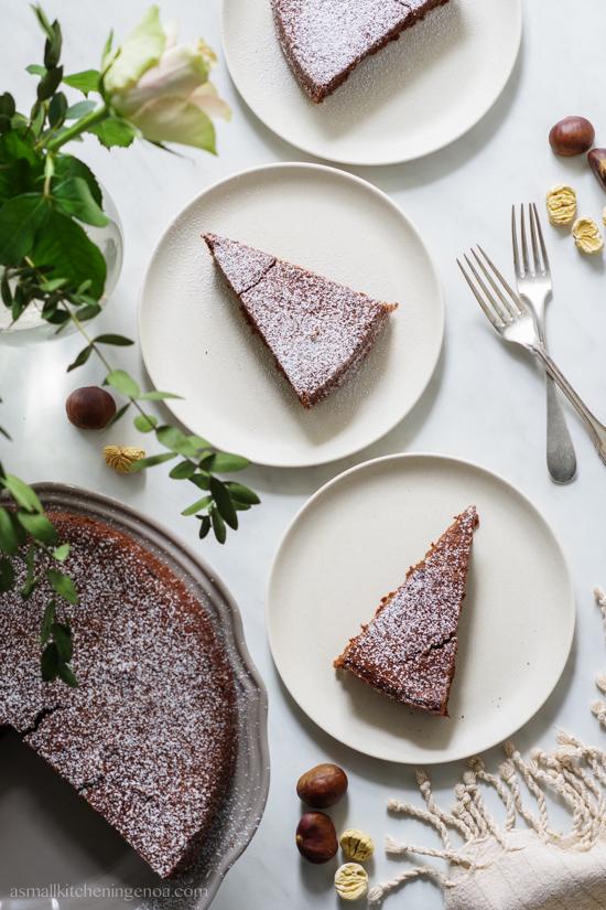 torta di castagne gluten-free