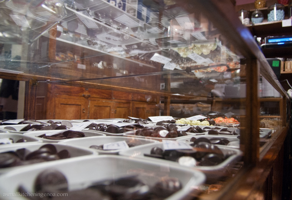 Ancient chocolate factory Romeo Viganotti in Genoa