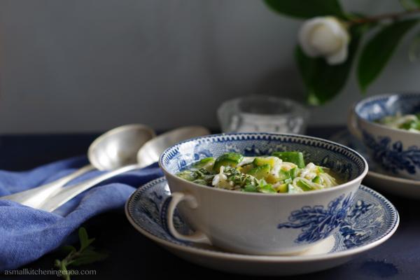Italian Riviera whitebait soup