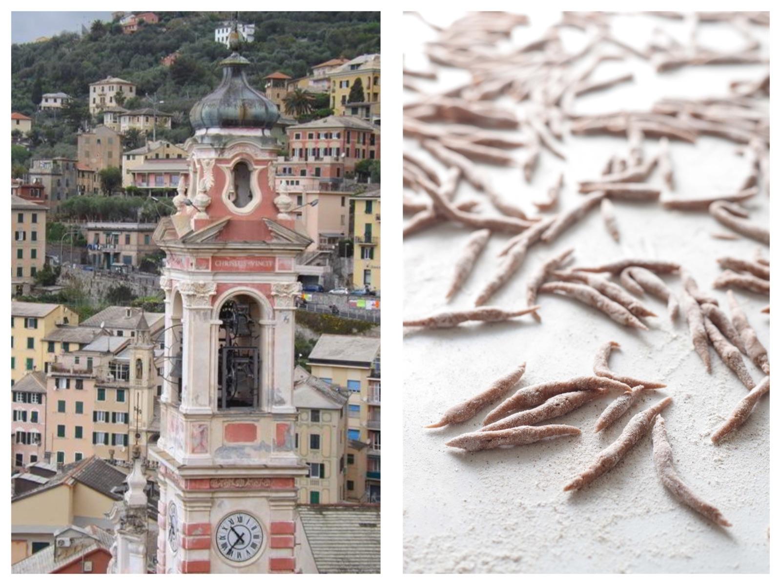Italian Riviera chestnuts trofie