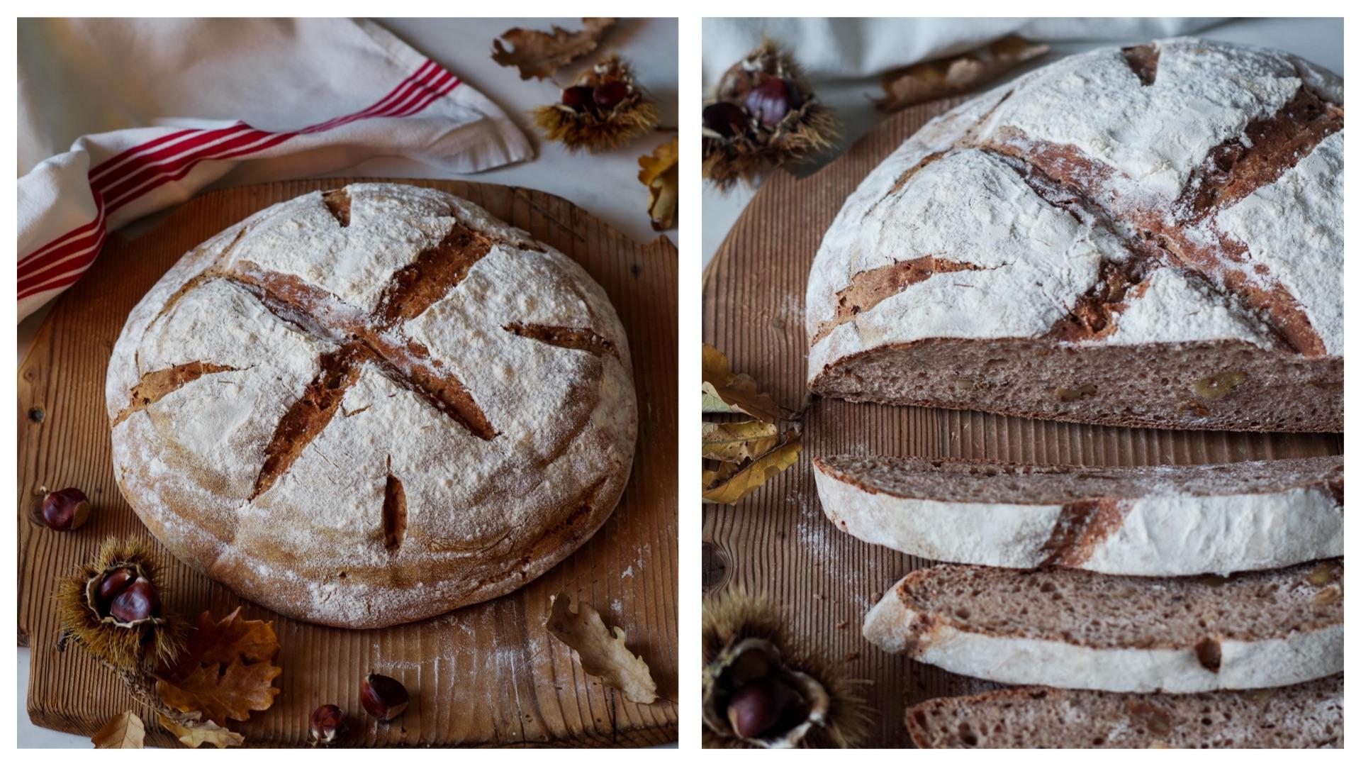 Italian Riviera Chestnut bread: recipe by asmallkitcheningenoa