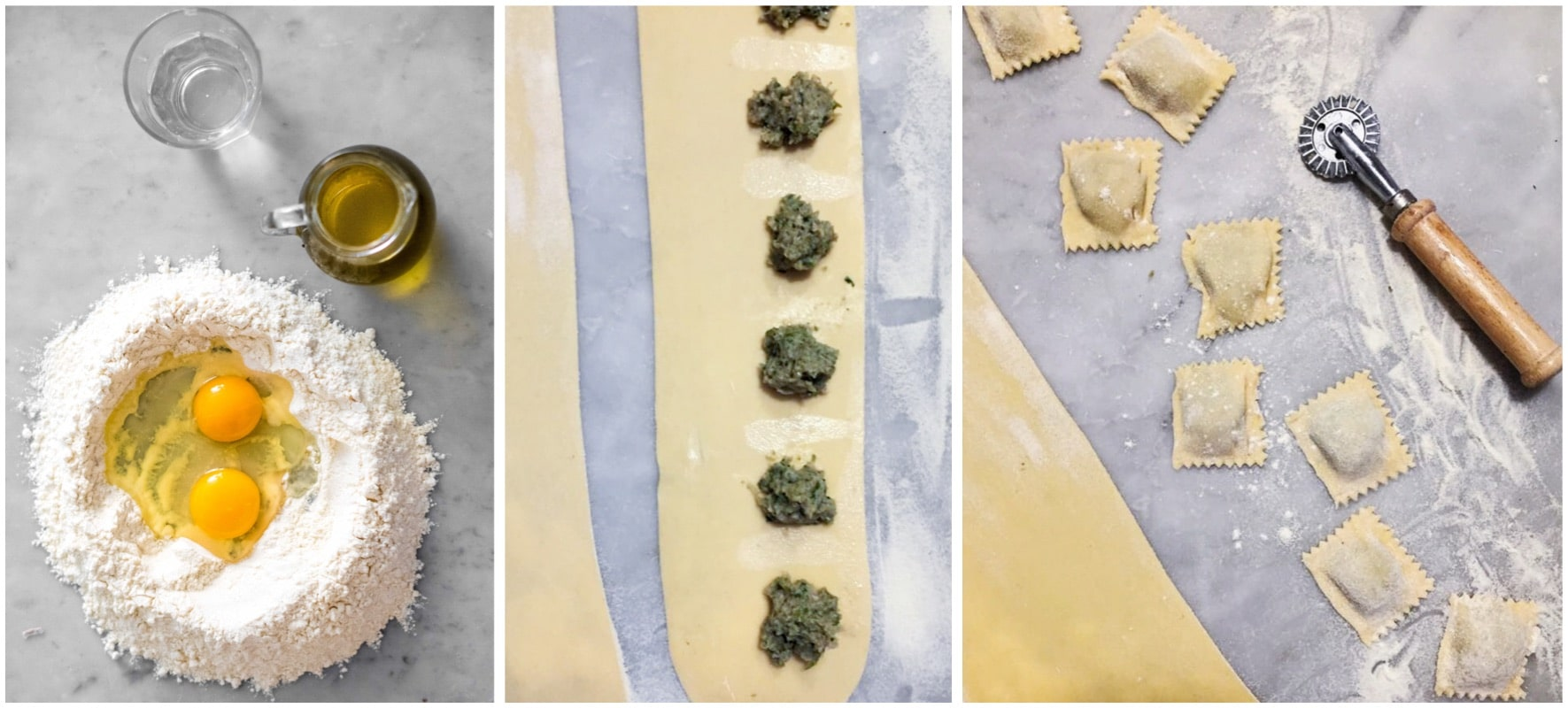 Genoese meat ravioli making
