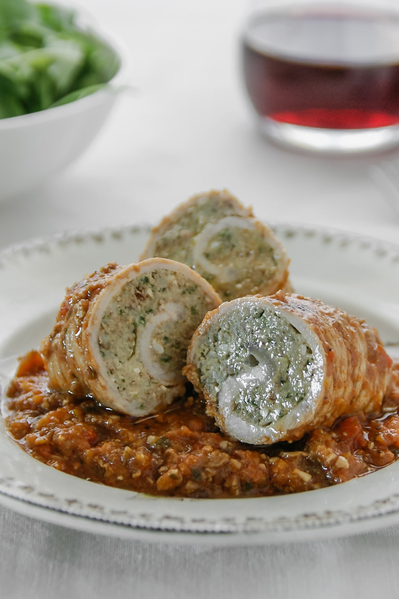 Tomaxelle, the Genoese veal rolls