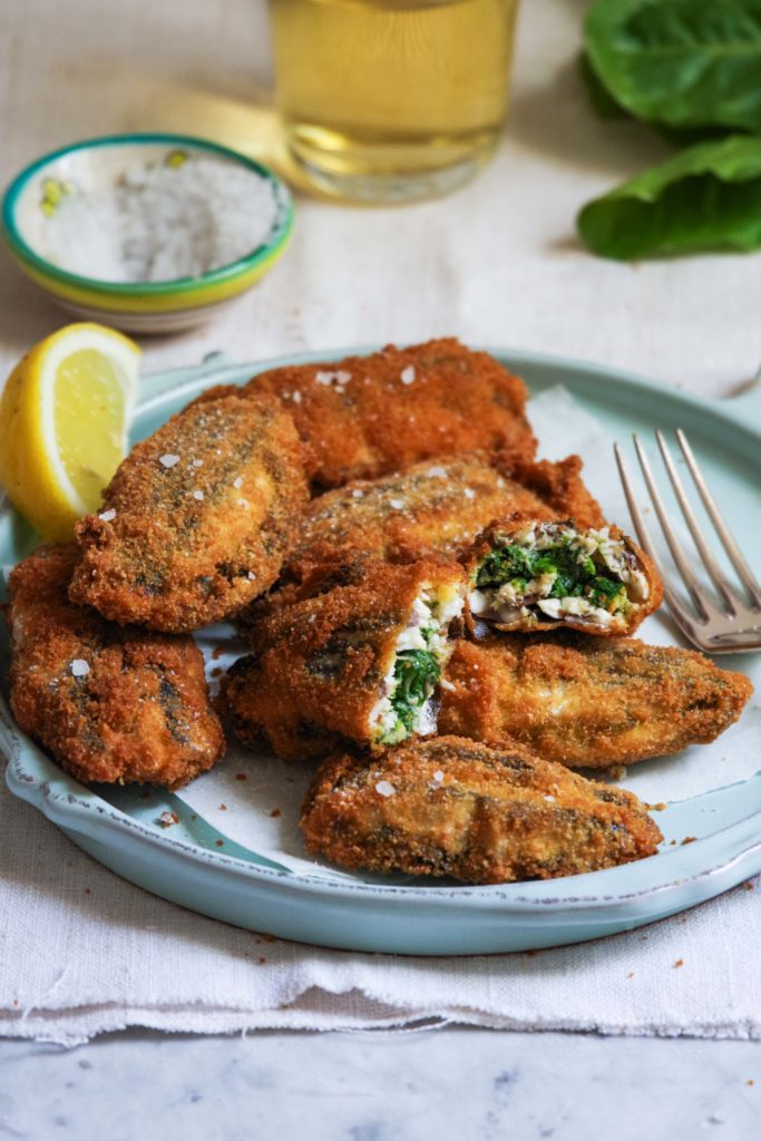 fried stuffed anchovies