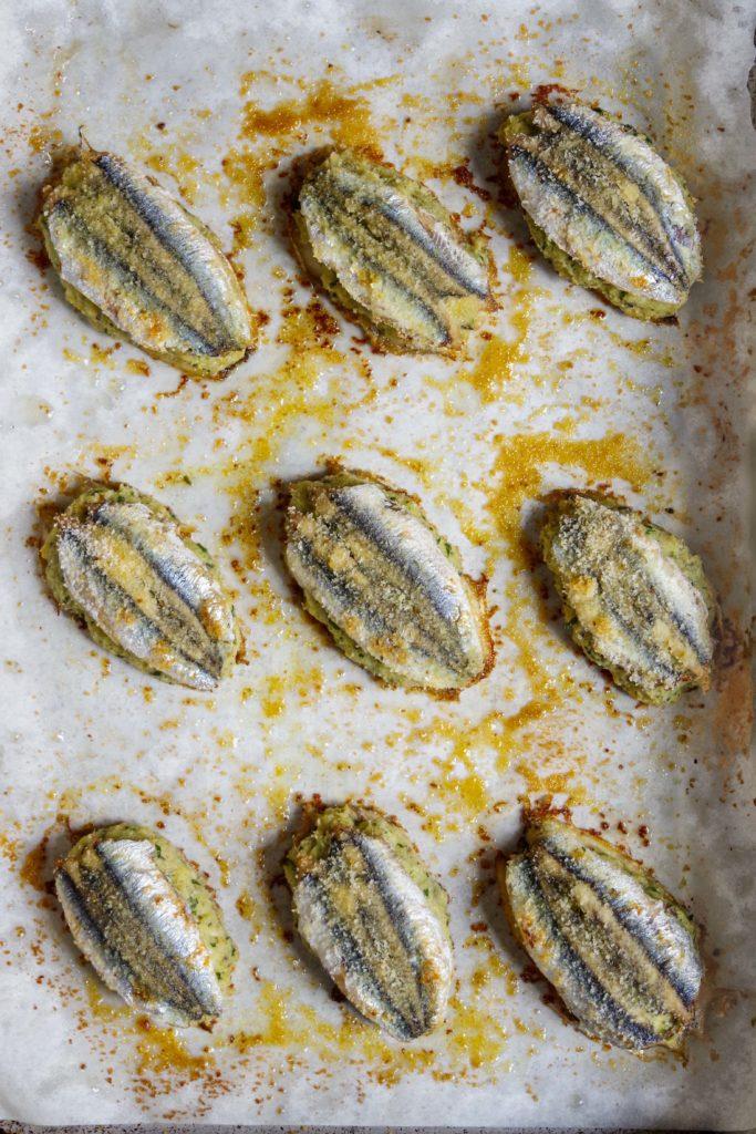 acciughe ripiene al forno: ricetta ligure