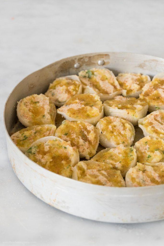 Italian Riviera stuffed onions