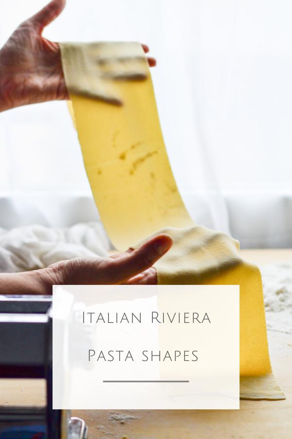 Liguria food guide Italian Riviea traditional pasta shapes
