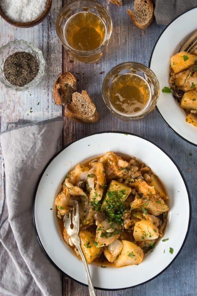 traditional Liguria stockfish stew recipe