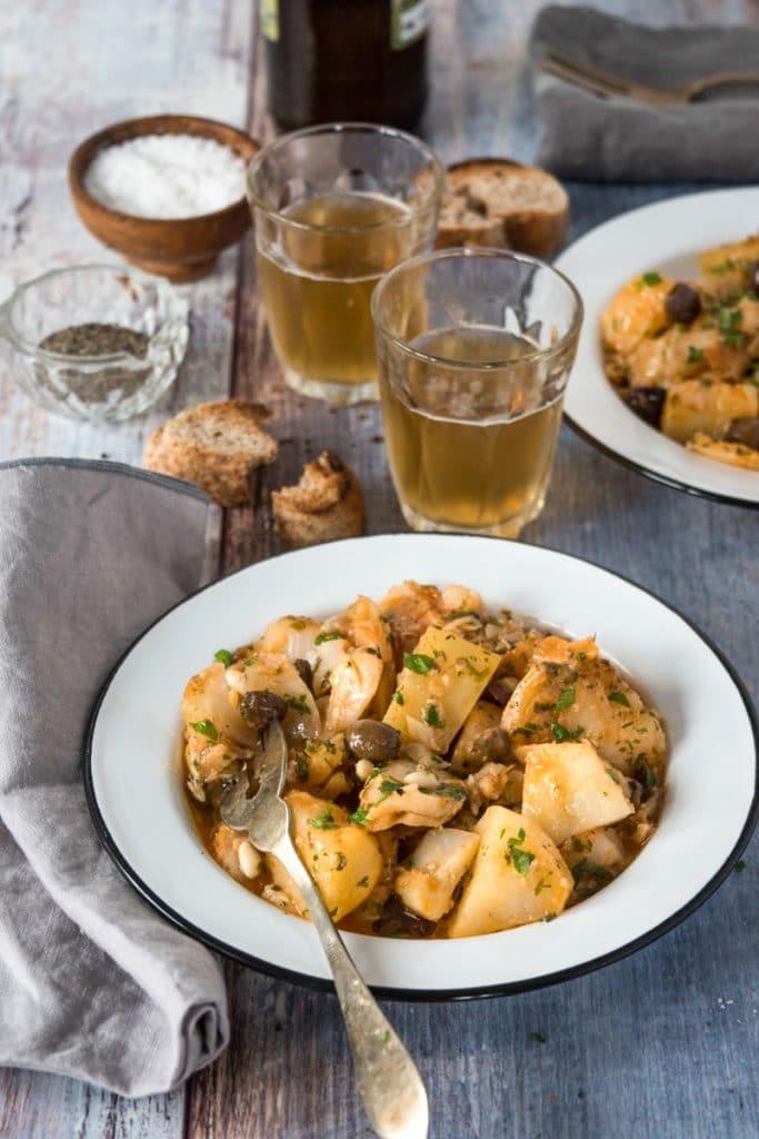 ricetta tradizionale ligure dello stoccafisso accomodato