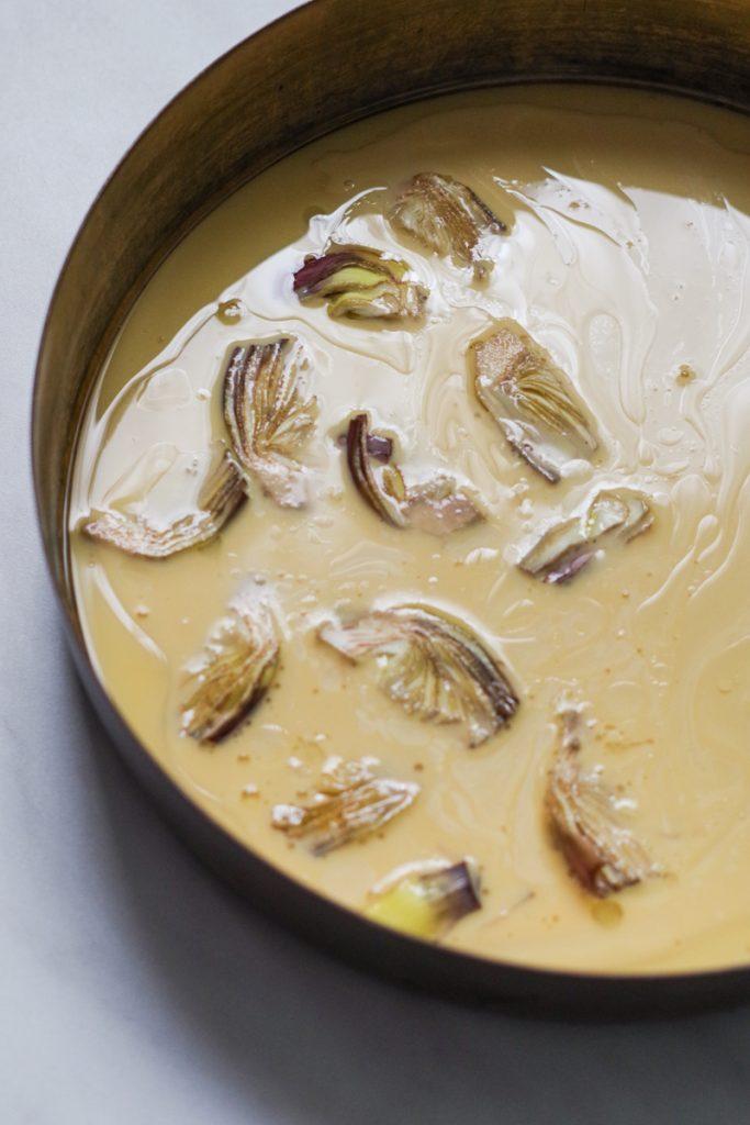 Farinata: the traditional Italian Riviera chickpea tart with artichokes