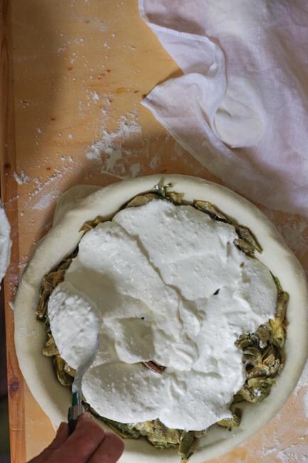 Italian Riviera artichoke pie - torta pasqualina genovese