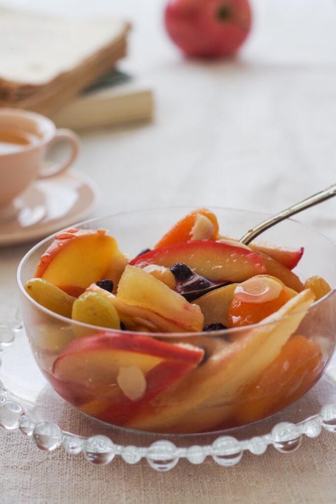 macedonia di frutta cotta