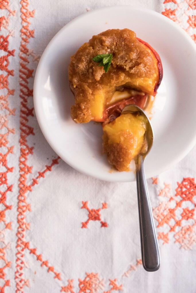 pesche ripiene_ baked stuffed peaches