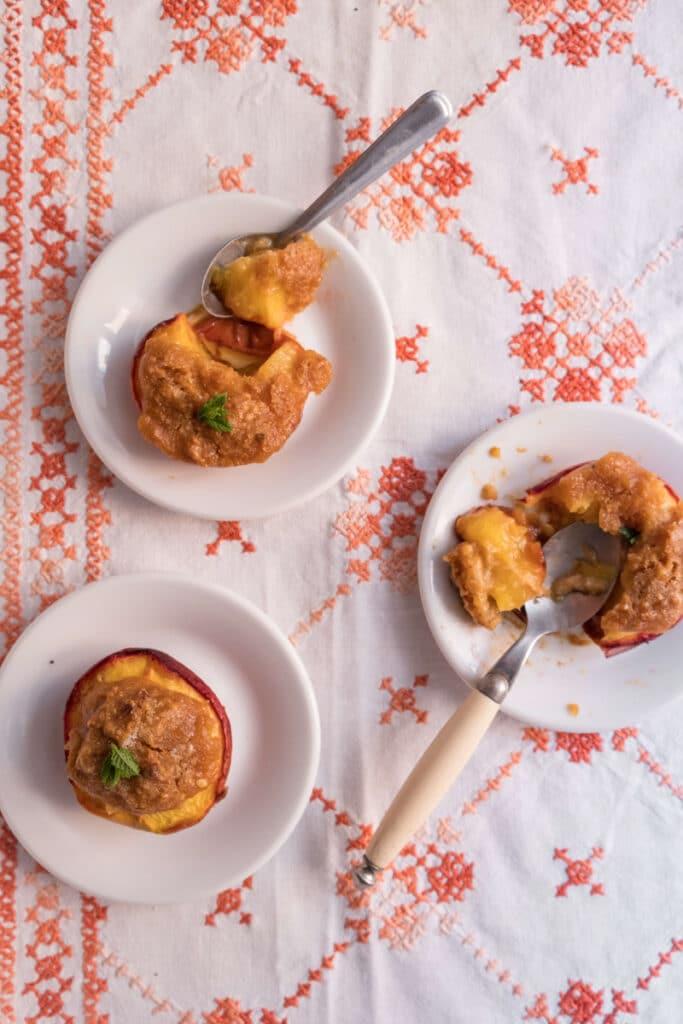 Liguria bakes stuffed peaches _ pesche ripiene al forno