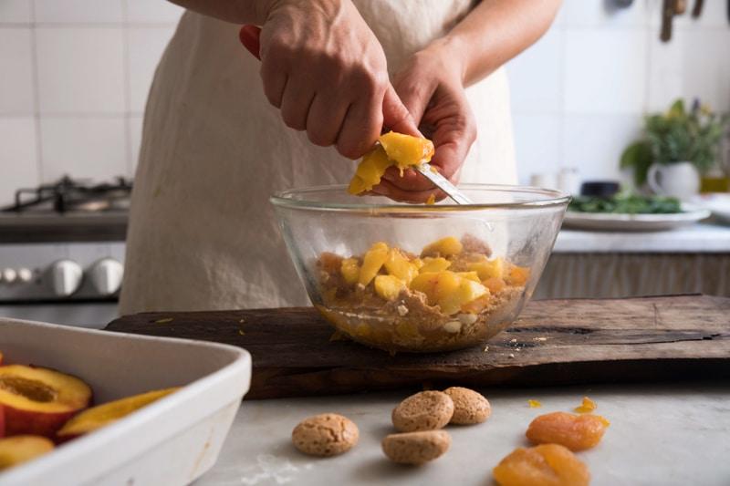 Liguria baked stuffed peaches _ pesche ripiene al forno