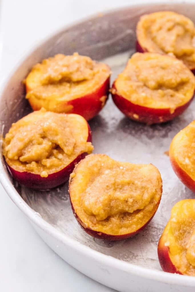 Pesche ripiene al forno, ricetta ligure