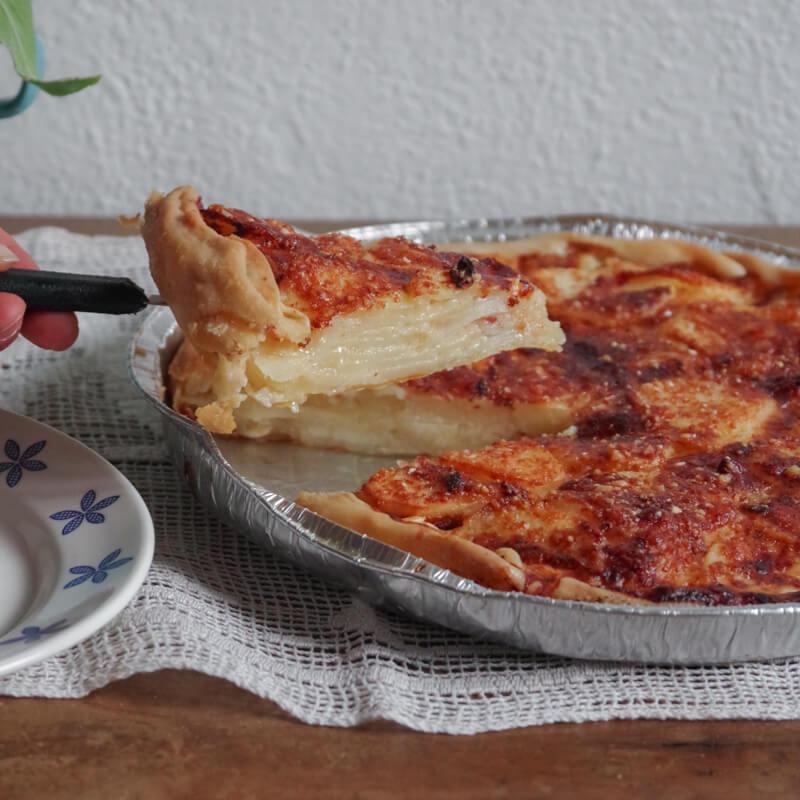 Torta Baciocca the traditional Liguria potato pie