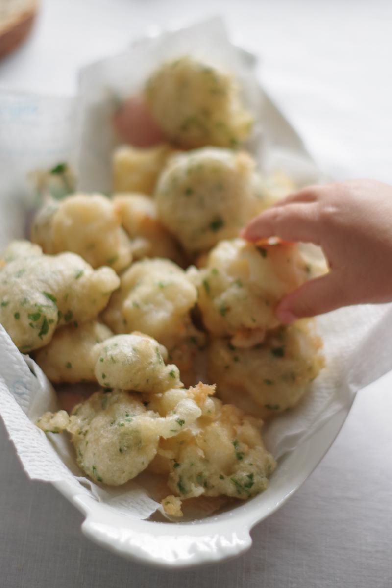Ligurian cod fritters (frisceu di baccalà)