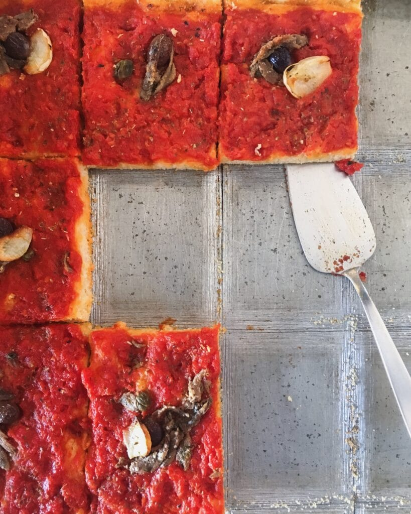 Pissalandrea, tomato focaccia from the Italian Riviera