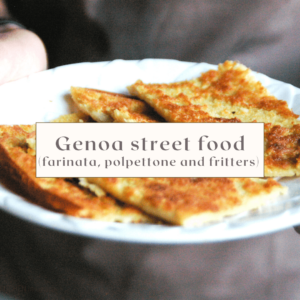 Italian Riviera street food online cooking class
