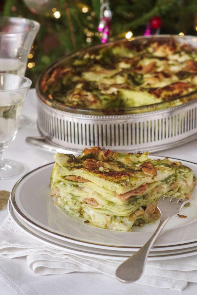 lasagnas with pesto and tuna