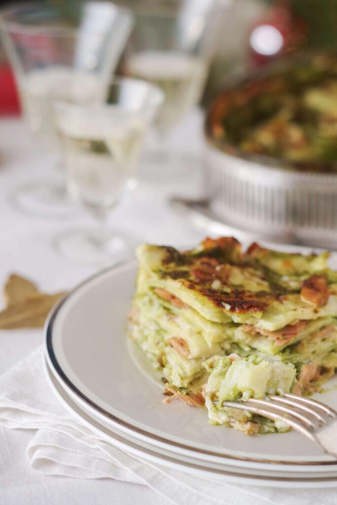 lasagnas with pesto and tuna from Carloforte