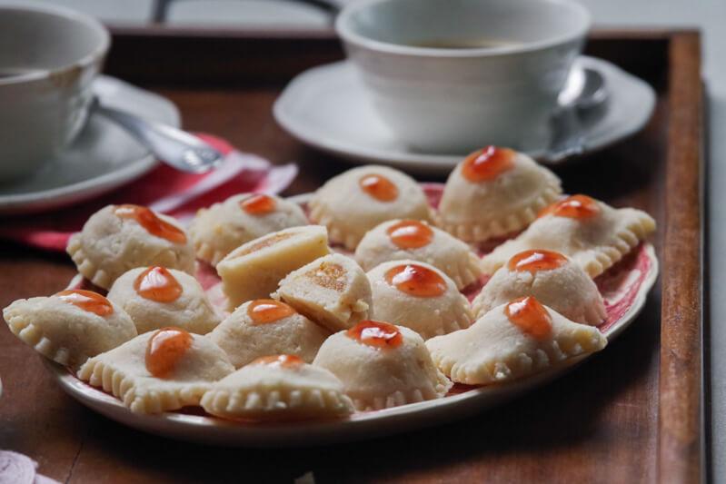ravioli dolci di marzapane genovesi