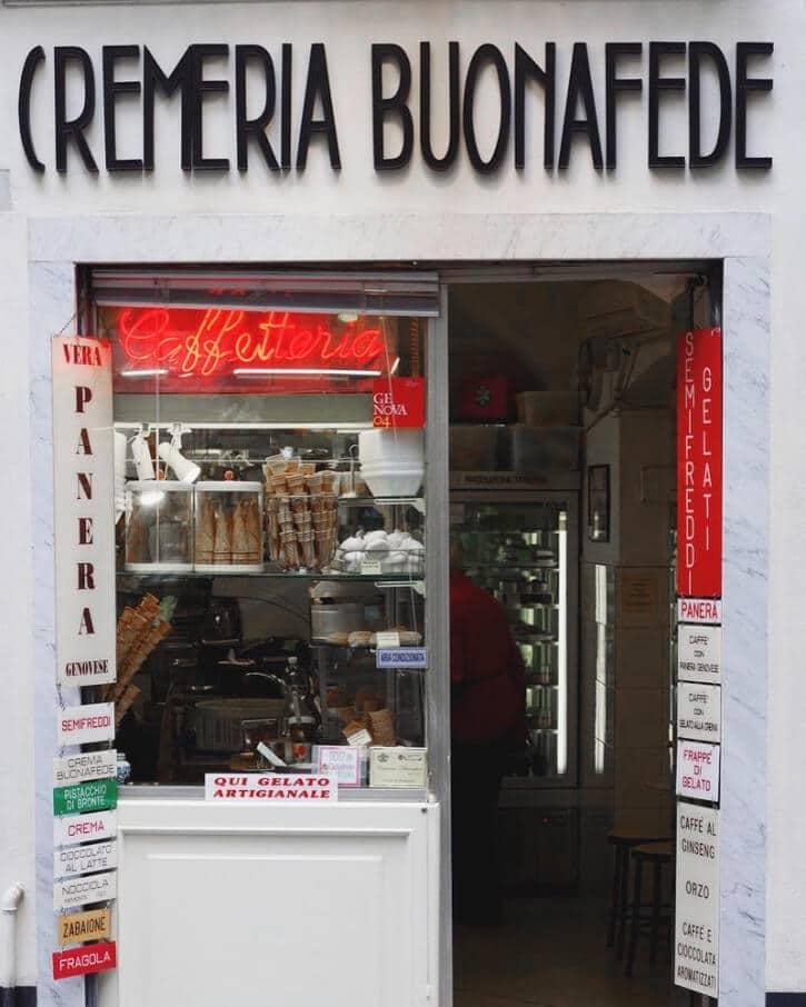 Cremeria Buonafede _where to eat gelato in Genoa