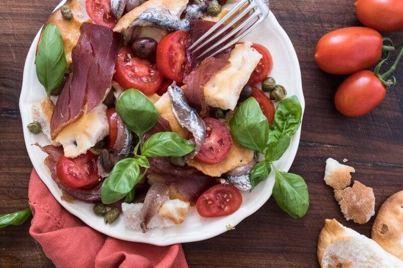 Capponada Liguria seafood salad
